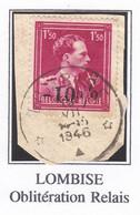 -10%  OBLITERATION RELAIS LOMBISE - 1946 -10%