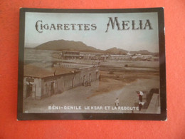 Photo CHROMO  Tabac  Cigarettes  MELIA ALGER Algerie 1900 - BENI-DENILE - Le Ksar Et La Redoute - Melia