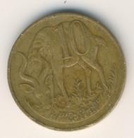 ETHIOPIA 1969 - 1977: 10 Santeem, Non Magnetic, KM 45 - Ethiopia