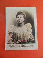 Photo CHROMO EROTIQUE FEMME Tabac  Cigarettes MELIA ALGER Algerie 1900 - CASSIVE - Melia