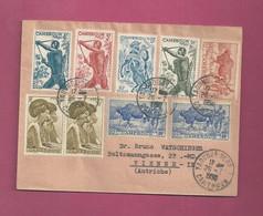 Lettre De 1956 Pour L' Autriche. YT N° 277, 278 X 2, 285, 286, 288 Et 290 - Storia Postale