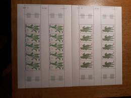 TAAF Feuilles Entières Avec Coin Datés 1985-1986 118 119 - Unused Stamps