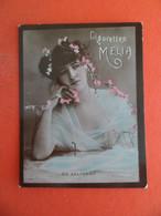 Photo CHROMO EROTIQUE FEMME Tabac  Cigarettes MELIA ALGER Algerie 1900 - DE SALIGNAC - Melia