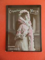 Photo CHROMO EROTIQUE FEMME Tabac  Cigarettes MELIA ALGER Algerie 1900 - MARCONNIER - Melia