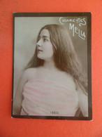 Photo CHROMO EROTIQUE FEMME Tabac  Cigarettes MELIA ALGER Algerie 1900 - ISEO - Melia