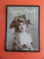 Photo CHROMO EROTIQUE FEMME Tabac  Cigarettes MELIA ALGER Algerie 1900 - Bonheur - Melia