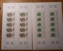 TAAF Feuilles Entières Avec Coin Datés 1986-1987 125 126 - Unused Stamps