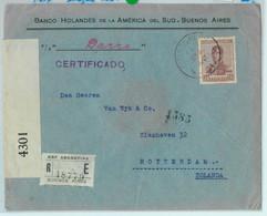 93841 - ARGENTINA - POSTAL HISTORY - REGISTERED Cover To HOLLAND Censored 1917 - Cartas