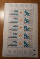 TAAF Feuilles Entières Avec Coin Datés 1987-1988 139 - Unused Stamps