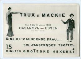 V1017/ Trux & Mackie Zauberer Im Casanova - Essen 1936  AK Variete  - Altri