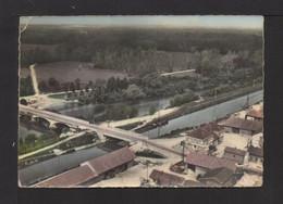 CPSM Gf . 51 . En Avion Au-dessus De . POGNY . Pont Sur La Marne Et Canal . - Autres Communes