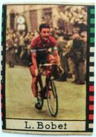 """Mini Figurina Ciclismo P. Bobet - Sul Retro Pubblicità """"Biscotti Bovolone"""" - Cycling"""