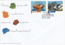 POLOGNE FDC 2002 PEINTURES - FDC
