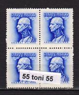 1943  Andrej Hlinka  Mi. 111y ; Yv.-86A (filigrane) MNH** Bloc De 4  Slovakia/Slovaquie - Nuevos