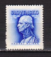 1943  Andrej Hlinka  Mi. 111y ; Yv.-86A (filigrane) MNH** Slovakia/Slovaquie - Nuevos