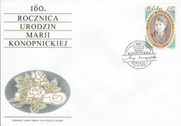 POLOGNE FDC 2002 MARIA KONOPNICKA - FDC