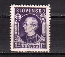 1943 P. Hlinka 1.30 K.  (Mi-97)   MNH** Slovaquie / Slovakia - Nuevos
