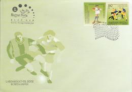 POL0GNE FDC 2002 FOOTBALL COUPE DU MONDE JAPON-COREE - FDC