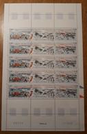 TAAF Feuilles Entières Avec Coin Datés 1989-1990 223 224 225 - Unused Stamps