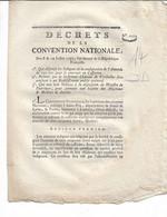 Décrets De La Convention Nationale 1793 Château De Vesailles Sera Consacré à Un établissement Public...4 P S Deforgue - Gesetze & Erlasse
