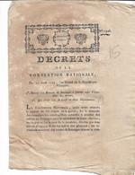 Décrets De La Convention Nationale 1793 Qui Divise La CORSE En Deux Départements.4 P S Dalbarade - Gesetze & Erlasse