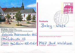 84554) BRD - P 138 R3/33 - 5403 ⨀ 6640 Merzig, Dorfplatz, Kirche - Postales Ilustrados - Usados