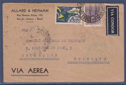 Enveloppe Brésil 2 Timbres Rio De Janeiro 7.NOV.1934 Service Aérien, Via Condor, Via Aerea, Poste Aérienne......... - Briefe U. Dokumente