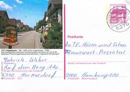 84555) BRD - P 138 - R3/37 - 5270 ⨀ 7571 Hügelsheim, Ortsansicht (REO Bugig) - Postales Ilustrados - Usados