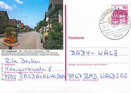 84556) BRD - P 138 - R3/37 - 7595 ⨀ 7571 Hügelsheim, Ortsansicht - Postales Ilustrados - Usados