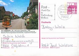 84558) BRD - P 138 - R3/37 - 7302 ⨀ 7571 Hügelsheim, Ortsansicht - Postales Ilustrados - Usados