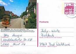 84559) BRD - P 138 - R3/37 - 2300 ⨀ 7571 Hügelsheim, Ortsansicht - Postales Ilustrados - Usados