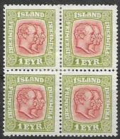 Iceland Mh * 1915 Crosses Wtm  20 Euros - Unused Stamps