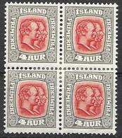 Iceland Mh * 1907 Crown Wtm  7,20 Euros - Unused Stamps