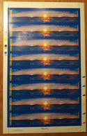 TAAF Feuilles Entières Avec Coin Datés 2007-2008 477 (70% Faciale) - Unused Stamps