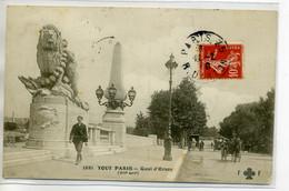 75 Tout PARIS No  1881  Animation Quai D'Orsay  1910 Timbrée   D09 2020 - Distretto: 07