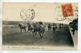 """14 DEAUVILLE Course De Chevaux L""""Arrivée Du GRand Prix Hippisme écrite Timb 1919    D10  2017 - Deauville"""