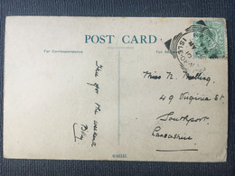EDWARD VII Postcard 1905 With Towyn Wales R.S.O. Railway Postmark - Covers & Documents
