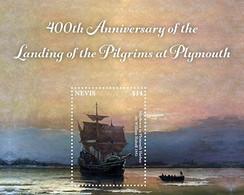 Nevis 2020 400TH ANNIVERSARY OF THE PILGRIM'S LANDING IN PLYMOUTH I202101 - St.Kitts-et-Nevis ( 1983-...)