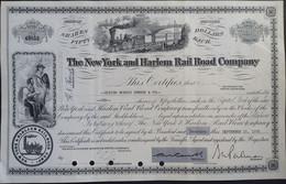 The NY And Harlem Rail Road Comp - Ferrocarril & Tranvías
