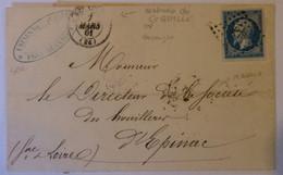 18.02.21_LAC Illustrée  Usines De Gouille Pres De Besançon Sur N°14 Belle Nuance - 1849-1876: Periodo Classico
