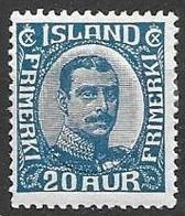 Iceland Mh * (9 Euros)  1920 - Ongebruikt