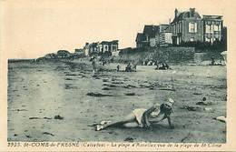 - Calvados -ref-G420- Aneslles - Plage Dvue De La Plage De Saint Come De Fresné - Villas -edit. Riviere Bureau N°2925 - - Andere Gemeenten