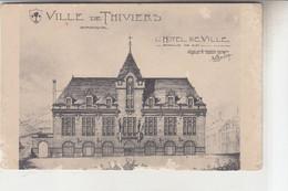 THIVIERS  CPA   PLAN  MAQUETTE  HOTEL DE VILLE     TRES RARE - Thiviers