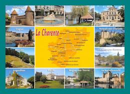 16 Charente Carte Géographique Villefagnan, Aigre, Mansle, Ruffec, Rouillac, Ruelle, Magnac, Verteuil, La Rochefoucauld - Unclassified