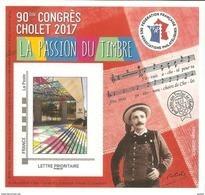 FFAP N° 13 De 2017 - Bloc Dentelé Autoadhésif - La Passion Du Timbre - Cholet - Solfège, Musique - FFAP