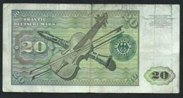 Allemagne R F A  Billet De 20 Deutche Mark 8 Janvier 1970 ( GB8028084V )  Circuler  Laura 5904 - 20 Deutsche Mark