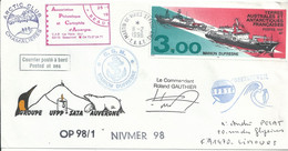 YT 215 Marion Dufresne I Et II - Posté à Bord - Martin De Viviès - St Paul Amsterdam - 11/02/1998 - Cartas