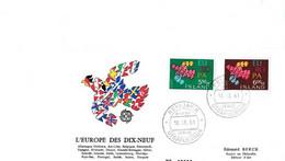 FDC Islande 1961 L'Europe Des Dix - Neuf - FDC