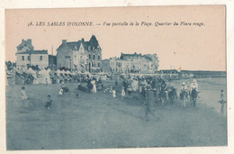 38     Les  Sables D Olonne  Vue Partielle De La Plage   Quartier Du Phare Rouge (  Librairie Des Arts Graphiques  ) - Sables D'Olonne