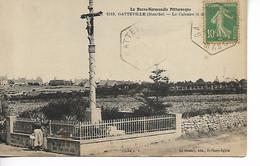 GATTEVILLE Manche Le Calvaire + Recette Distribution Sur 10c Semeuse 1929      2 Scans...G - Sonstige Gemeinden